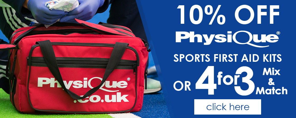 10% OFF Sports First Aid Kit or 4for3!