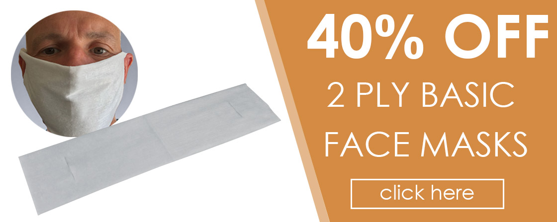 40% OFF 2 Ply Basic Face Masks