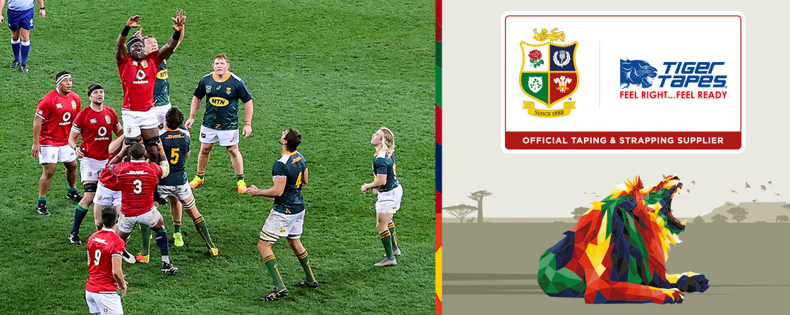 Tiger Tapes | Offical Taping & Strapping Supplier to The British & Irish Lions