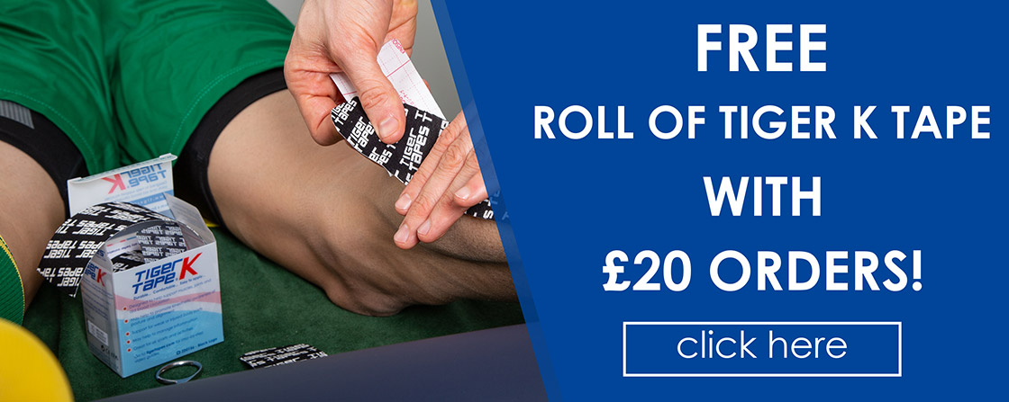 FREE Roll of Tiger K Tape with £20 Orders!