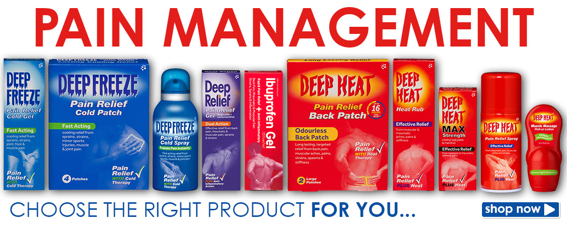 View the Range of Deep Heat Products