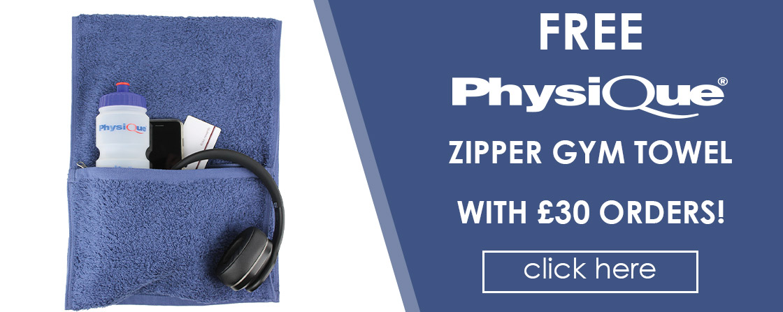FREE Physique Zipped Gym Towel with £30 Orders