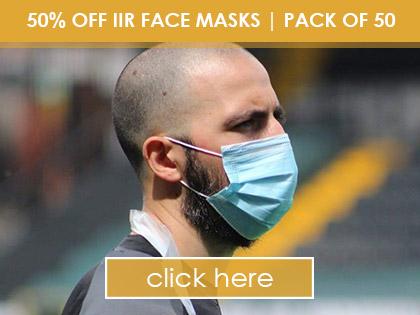 50% OFF IIR Face Masks   Pack of 50
