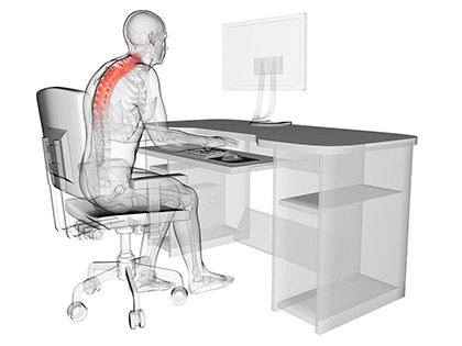 Bad posture at desk