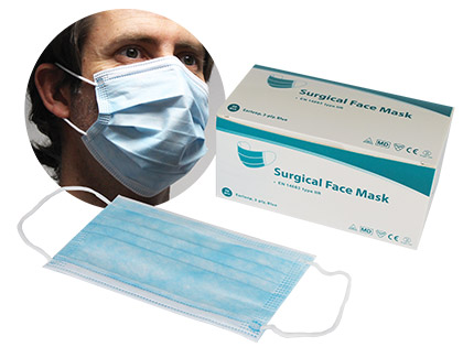 IIR 3 Ply Surgical Face Mask Pack of 50