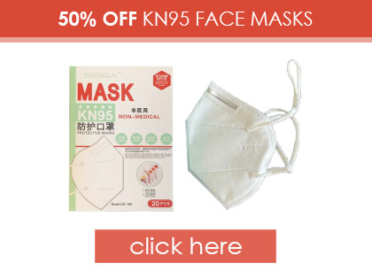 50% OFF KN95 Non-Medical Face Masks|Pack of 20