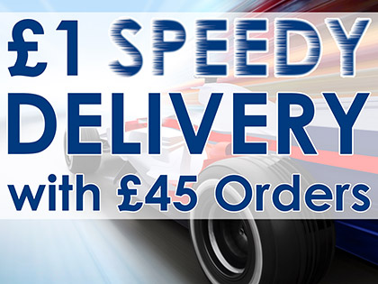 £1 SPEEDY DELIVERY with £45 Orders