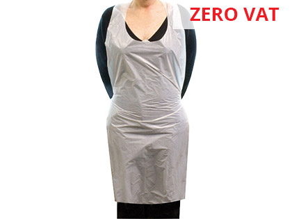 Polythene Disposable Apron with Ties Pack of 100