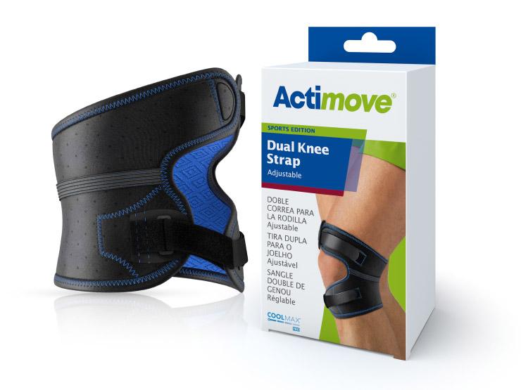Actimove® Sports Edition Adjustable Dual Knee Strap