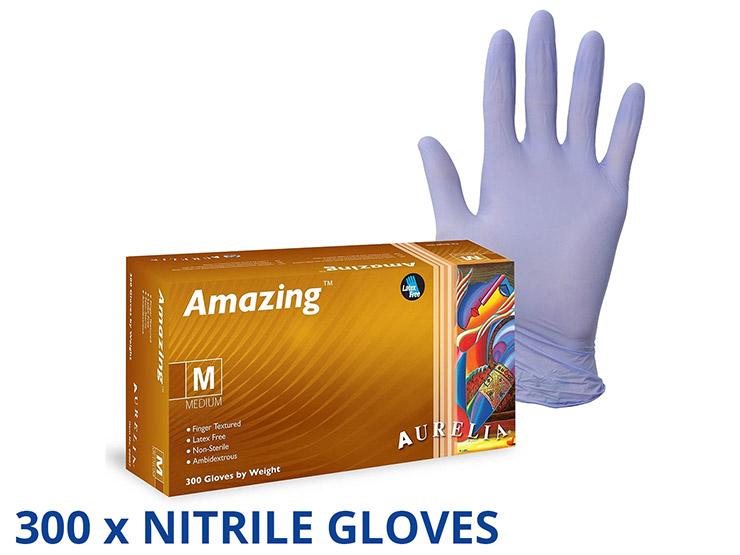 Aurelia® Amazing™ Nitrile Powder Free Gloves Pack of 300