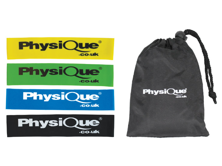 Physique Mini Bands Set of 4 with Bag