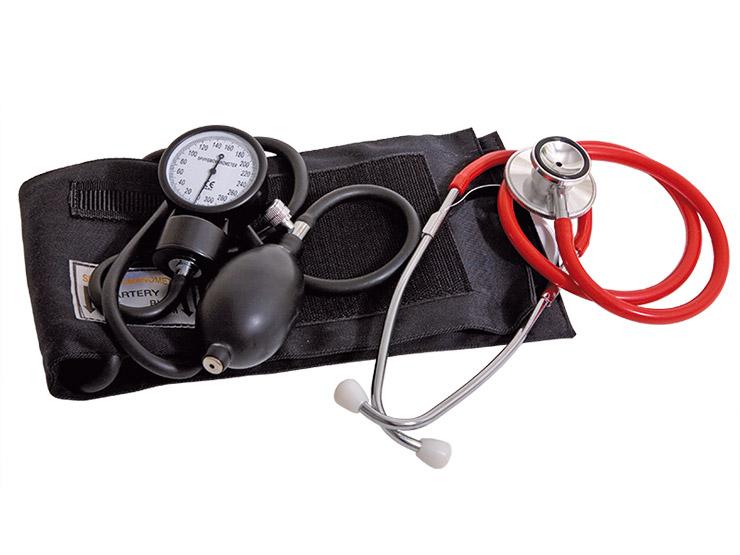 Sphygmomanometer and Stethoscope