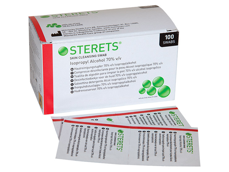 Sterets® Skin Cleansing Swabs
