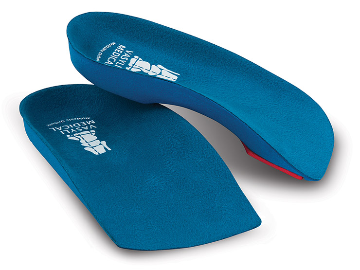 Vasyli Blue Custom 3/4 Orthotics - Medium Density