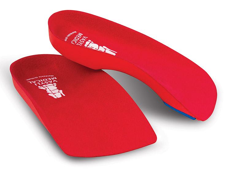 Vasyli Red Custom 3/4 Orthotics - High Density