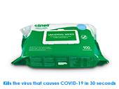 Clinell Universal Hand & Surface Wipes Pack of 100