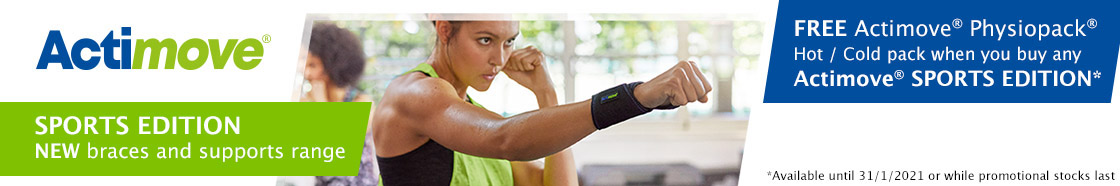 FREE Actimove® Physiopack® when you buy any Actimove® Sports Edition