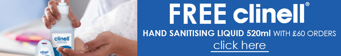 FREE Clinell Hand Sanitiser with £60 orders
